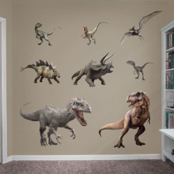 Jurassic World Dinosaurs Collection Wall Decals, Multicolor