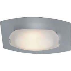 nido wall or ceiling mount with frosted glass shade matte chrome grey - Allshopathome-Best Price Comparison Website,Compare Prices & Save