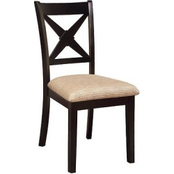 frame x crossed back side chair wooddark oakblack set of 2 furniture of - Allshopathome-Best Price Comparison Website,Compare Prices & Save