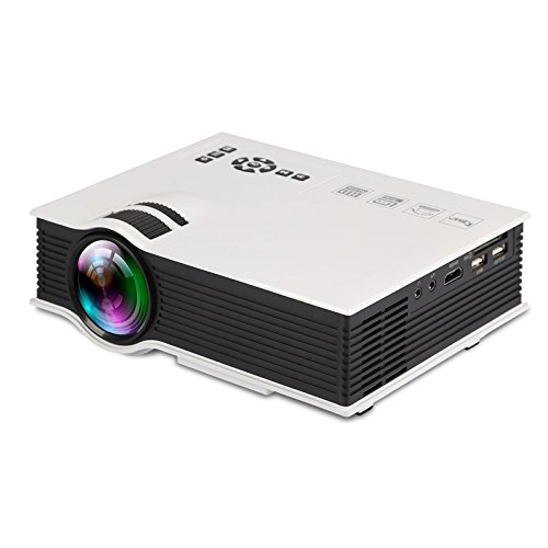 Portable Mini Video Projector+20% Lumens, Multimedia LCD Home Theater Projector with HDMI Cable, Support 1080P HDMI USB SD Card VGA AV TV Laptop Game iPhone iPad Android Smartphone