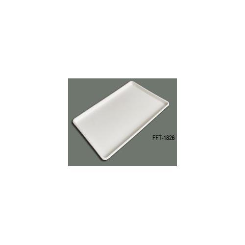 18 x 26 Inch Plastic Tray White, Set of 12