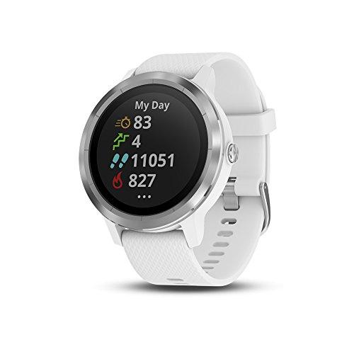 Garmin vívoactive 3 GPS Smartwatch – White & Stainless