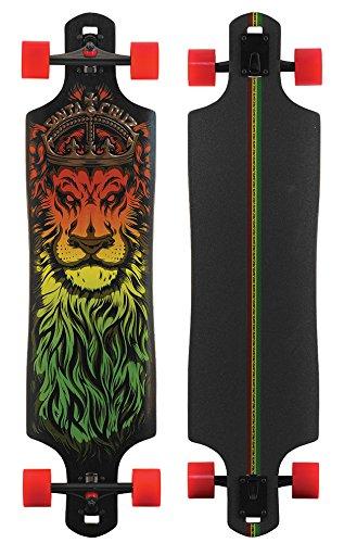 Santa Cruz Lion God Rasta Drop Thru Cruzer Freeride Longboard Deck Complete 40″