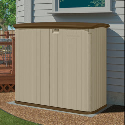 Suncast Horizontal Outdoor Storage Shed, Beig/Green (Beig/Khaki)