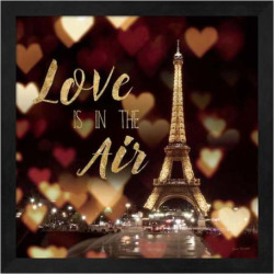 "Metaverse Art ""Love is in the Air"" Framed Wall Art, Black"