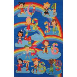 Fun Rugs Fun Time Kids & Numbers Rug, Multicolor