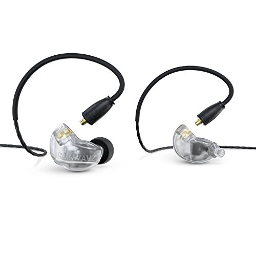 Brainwavz B400 Quad Balanced Armature Pro Refrence Monitor Earbud Earphones with Detachable Inline Remote & Mic Cable