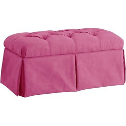 Skirted Storage Bench Premier Hot Pink – Skyline Furniture