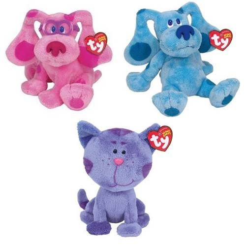 Ty Beanie Baby Blues Clues Friends Set of 3 Beanies (Blue, Periwinkle Magenta)