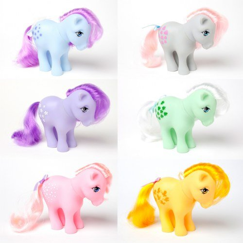 Schylling Retro My Little Pony (Set of 6)