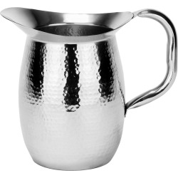 Old Dutch 2-qt. Hammered Stainless Steel Water Pitcher, Multicolor