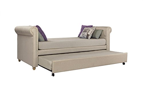 dhp sophia upholstered daybed and trundle classic design twin size tan - Allshopathome-Best Price Comparison Website,Compare Prices & Save