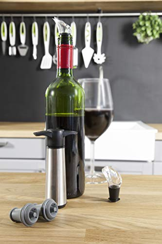 the original vacu vin wine saver with 2 vacuum stoppers and 2 wine servers  - Allshopathome-Best Price Comparison Website,Compare Prices & Save