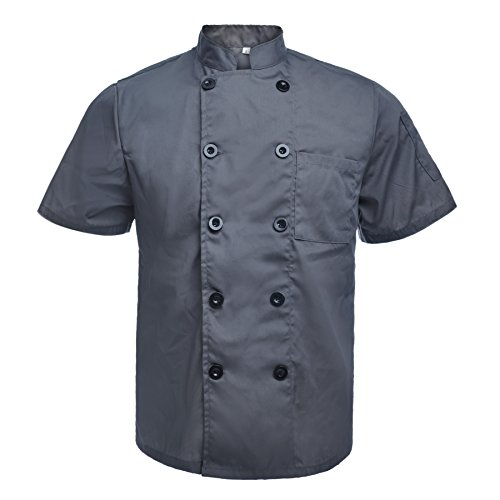 toptie unisex short sleeve chef coat jacket dark gray xxl - Allshopathome-Best Price Comparison Website,Compare Prices & Save