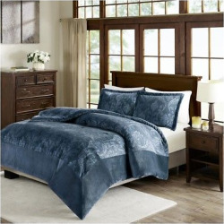 blue trenton textured plush comforter mini set kingcalifornia king jla home - Allshopathome-Best Price Comparison Website,Compare Prices & Save