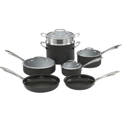 Cuisinart 11-pc. Hard-Anodized Nonstick Cookware Set, Black