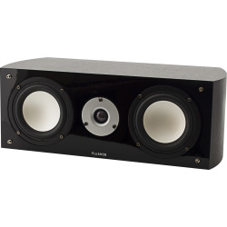 Fluance XL7C High Performance Two-way Center Channel Speaker for Home Theater – Dark Walnut