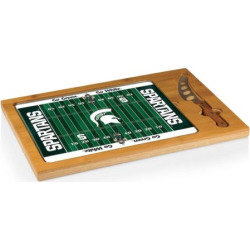 Picnic Time Michigan State Spartans Cutting Board Serving Tray, Brown