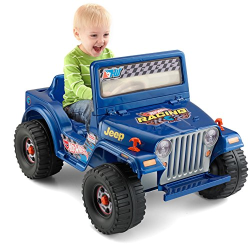 Power Wheels Hot Wheels Jeep Wrangler, Blue (6V) [Amazon Exclusive]