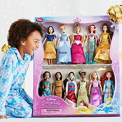 Disney Exclusive Princess Classic Doll Collection – 12- (11 Dolls:Snow White, Cinderella, Aurora, Ariel, Belle, Jasmine, Pocahontas, Mulan, Tiana, Rapunzel, and Merida)