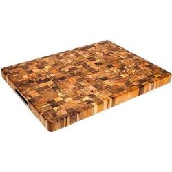 Teak Haus End Grain Cutting Board – 20, Wood