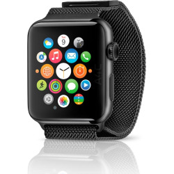 Apple Watch Series 1 w/ 38mm Stainless Steel Case & Milanese Loop – Space Black (Refurbished)