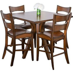 5 Piece Tehama Square Counter Height Wood Dining Set Wood/Dark Brown – Christopher Knight Home
