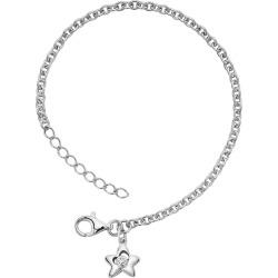 Little Diva Diamonds Sterling Silver Diamond Accent Star Bracelet – Kids, Girl's, Size: 5.50, White