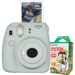 Fujifilm Instax Mini 9 Instant Camera Bundle, Grey