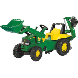 John Deere Backhoe Loader Pedal Ride-On by Kettler, Multicolor