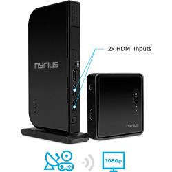 Nyrius ARIES Home+ Wireless HDMI 2 Input Transmitter & Receiver