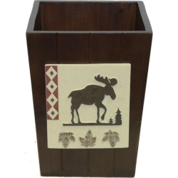 Bacova North Ridge Wastebasket, Brown