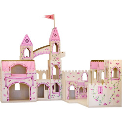 Melissa and Doug Folding Princess Castle, Multicolor