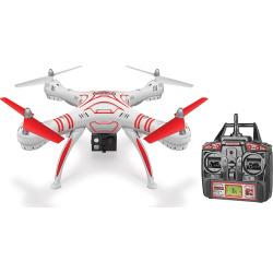 World Tech Toys Wraith HD Video Camera Remote Control Quadcopter Spy Drone, White