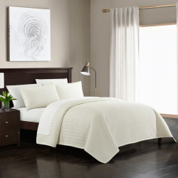 Chic Home Weaverland Quilt Bedding Set, White