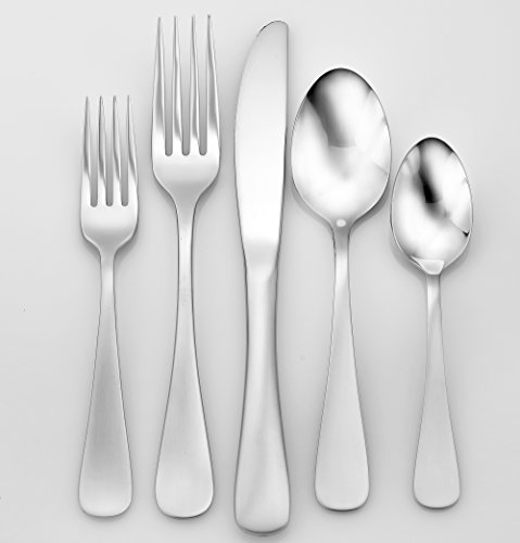 Liberty Tabletop Satin Annapolis 65 Piece Flatware Set for 12 Made in USA