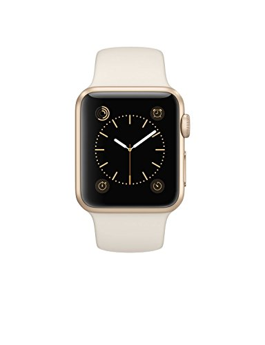 Apple Watch Sport 38mm Gold Aluminum Case with Antique White Sport Band