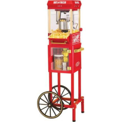 Nostalgia Electrics Vintage Collection Kettle Popcorn Cart, Multicolor