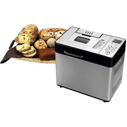 Breadman 2lb Professional Bread Maker with Automatic Fruit and Nut Dispenser, Silver