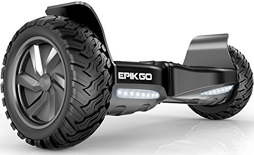 """EPIKGO Self Balancing Scooter Hover Self-Balance Board – UL2272 Certified, All-Terrain 8.5"""" Alloy Wheel, 400W Dual-Motor, LG Battery, Board Hover Tough Road Condition [Classic Series, Space Grey]"""