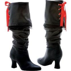 Black Pirate Costume Boots 9, Women's, Size: 8 Shoe