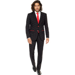 Men's OppoSuits Slim-Fit Star Wars Darth Vader Novelty Suit & Tie Set, Size: 42 – regular, Black