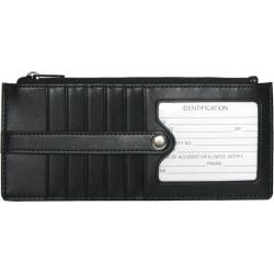 Royce Leather Credit Card Wallet, Women's, Black
