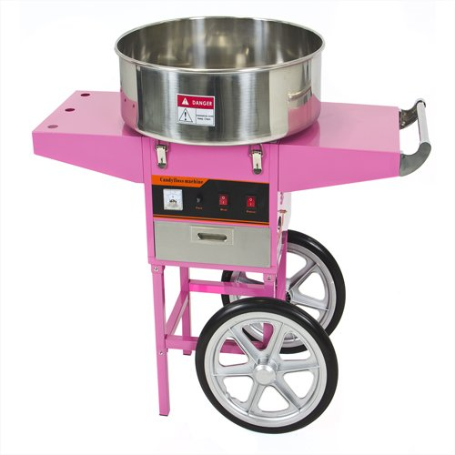 Best Choice Products Electric Commercial Cotton Candy Machine Cart Kit 1000w Floss Maker Store Booth