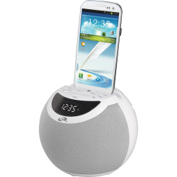 iLive Wireless Bluetooth Clock Radio and Charging Dock, White