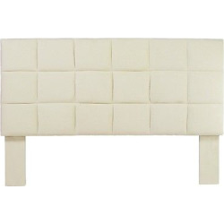 miBasics Marsha Flannelette Adjustable Twin Headboard in Ivory, Classic Ivory