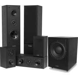 Fluance AV Series 5.1 Surround Sound Home Theater Speaker System with DB150 Powered Subwoofer