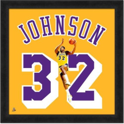 Magic Johnson Framed Jersey Photo, Multicolor