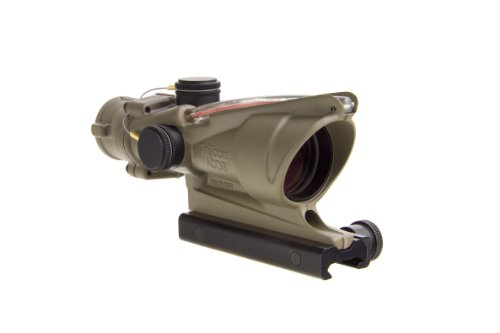 Trijicon ACOG TA31-D-100310 4x 32 Dual Illuminated Red Chevron .223 BAC Reticle Scope, Dark Earth