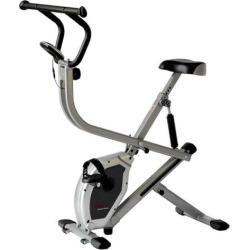 Sunny Health & Fitness Dual Action Rider Bike, Grey